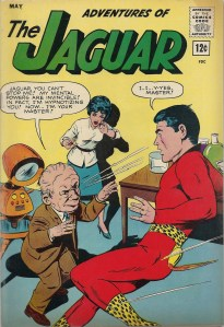 Here's a puzzler...Who has the most disproportionate head on this cover? - Adventures of the Jaguar #12