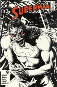 A terrifying cover and an embrarassing moment for the Man of Steel - Superman #422