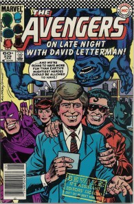 I guess this means that Jay Leno has teamed up with the Masters of Evil - The Avengers #239