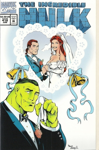 Break out the hankies, it's time for a wedding! - The Incredible Hulk #418