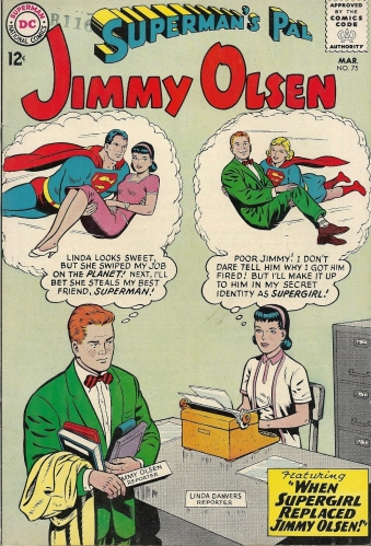 I can't even begin to unpack the sexual crosscurrents of this cover - Superman's Pal Jimmy Olsen #75