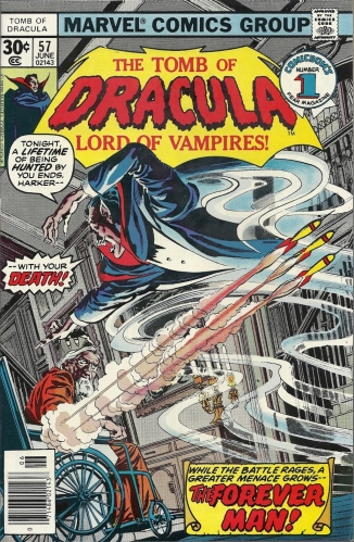 When I'm old and decrepit I too want a wheelchair with side-firing vampire-killing darts - The Tomb of Dracula #57