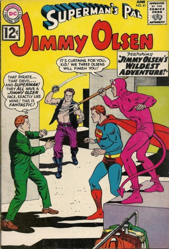 Ah, the days when a brutalized woman could be the source of mirth and merriment - Superman's Pal Jimmy Olsen #61
