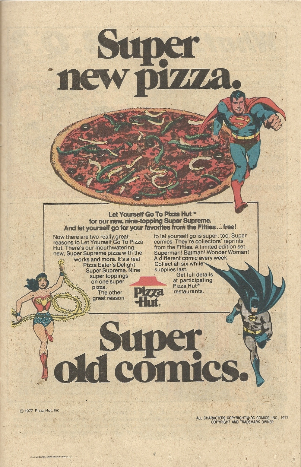 The Batman Harried And Hounded Pizza 123 Hut
