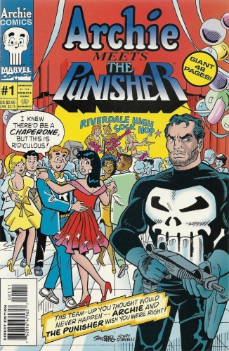 "Could we maybe reverse the names and swap ""kills"" for ""meets""? - Archie Meets the Punisher #1"