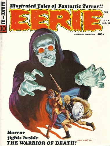 Ditko. Death. Destruction. All under one roof. - Eerie #10