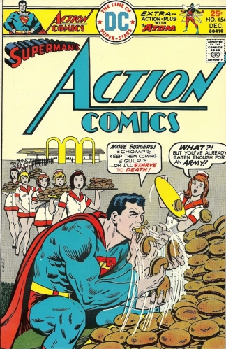I'd gladly pay you Tuesday for 1,638,927 hamburgers today - Action Comics #454