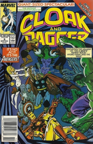 The Avengers flashmob Cloak and Dagger's book (Special Cameo by JOHN BYRNE'S GIANT OBNOXIOUS SIGNATURE) - Cloak and Dagger #9