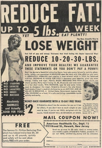 1940s broads had body issues too, but at least they had their Kelpidine pep pills