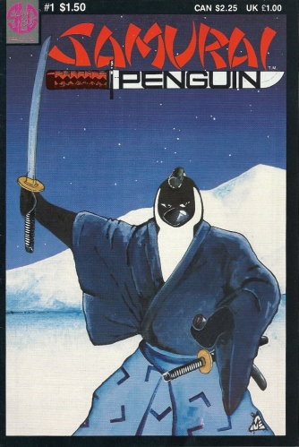 If the cute and cuddly dancing penguins in Happy Feet make you want to puke, might I suggest this antidote - Samurai Penguin #1
