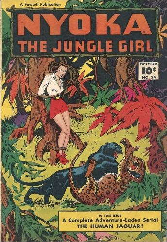 Presenting the most unscantily clad jungle girl in jungle girl history- Nyoka the Jungle Girl #24
