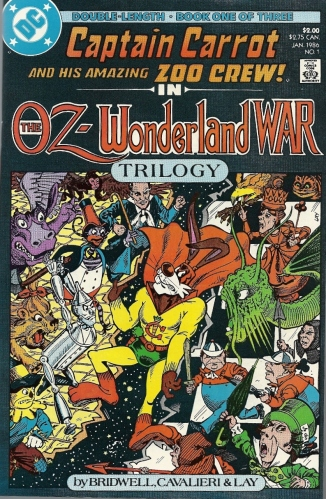 Who wins when Captain Carrot gets caught in the middle of a bizarre crossover conflict? WE DO. - The Oz-Wonderland War