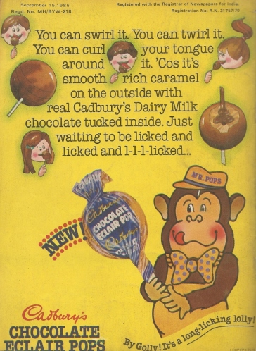 In India, lollipops are marketed with monkeys and an unsettling amount of licking terminology