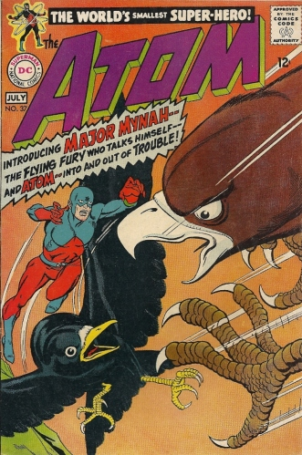 The senses-shattering, Kane-infused debut of Major Mynah, Ray Palmer's pet/sidekick/boat anchor - The Atom #37