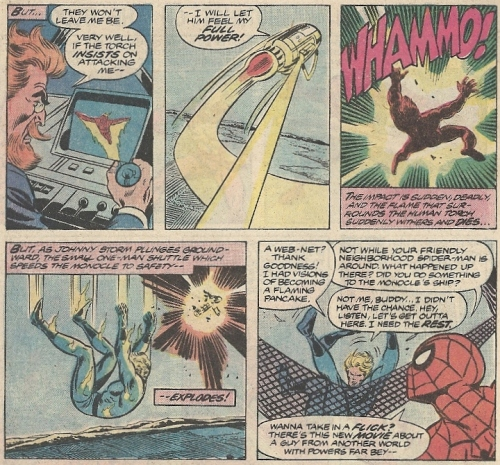 Spider-Man and a mind-controlled Human Torch renew their