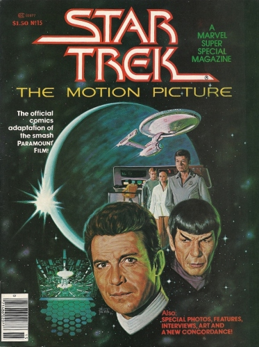 "V'Ger vs. Shatner's new toupee, with Earth in the balance - Marvel Super Special #15, ""Star Trek: The Motion Picture"""