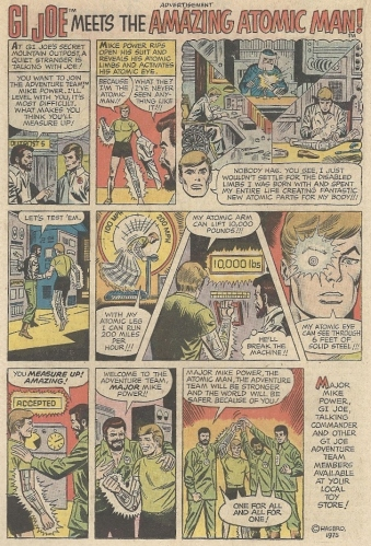 "G.I. Joe's pal Atomic Man isn't Steve ""Bionic Man"" Austin, despite being a man who's bionic"