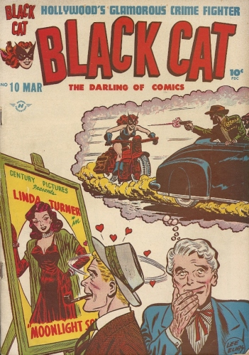 Sit back and let this Golden Age heroine headscissor her way into your heart (or at least your loins) - Black Cat #10