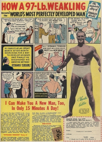 "Before Charles Atlas ""Made a Man out of Mac,"" he turned himself into America's ""Most Perfectly Developed Man"""