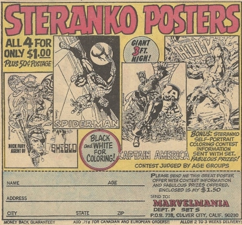 You thought the Kirby posters were good? The Steranko posters have thrown down the gauntlet.