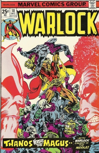 Adam Warlock. Thanos. Magus. 1970s Jim Starlin. Be there. - Warlock #10