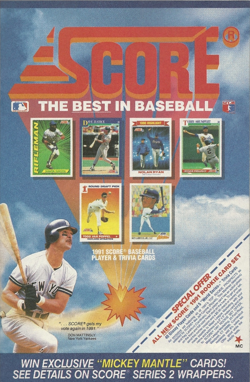Score With Don Mattingly Score Some Score Baseball Cards That Is