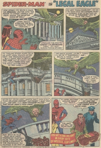 Spider-Man and Legal Eagle Hostess ad
