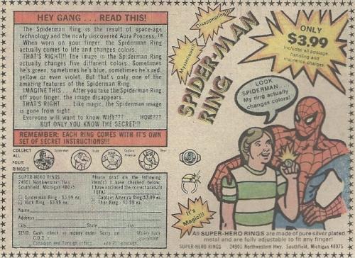 Spider-Man mood ring
