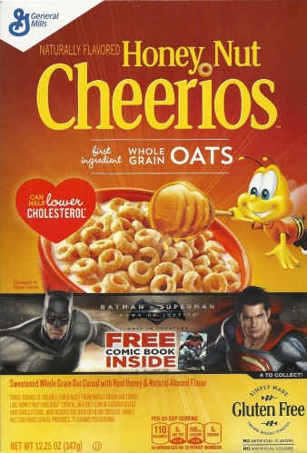 Honey Nut Cheerios Batman v Superman box